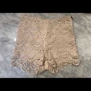 NWOT Charlotte Russe lace shorts